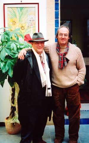 Giorgio De Cesario con il Maestro Cascella ne La Casa degli Artisti di Gallipoli