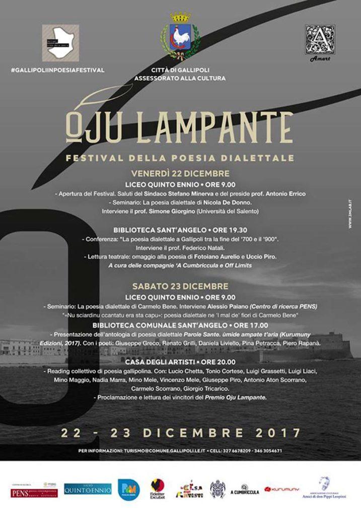 Locandina del Festival della Poesia Dialettale Gallipolina