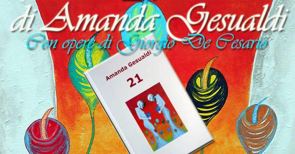 """Copertina del Libro """"21"""" di Amanda Gesualdi"""